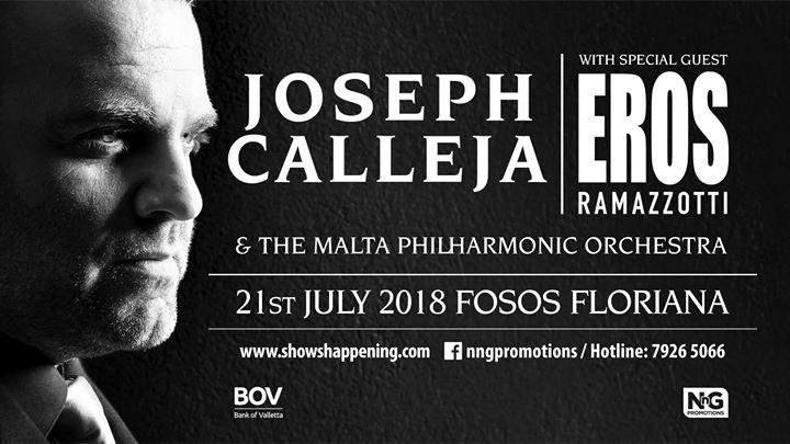 Joseph Calleja Concert 2018 with Eros Ramazzotti