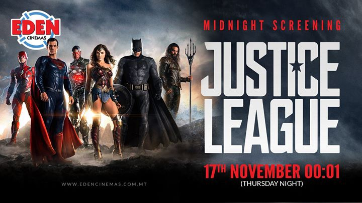 Justice League at Eden Cinemas- special midnight screening