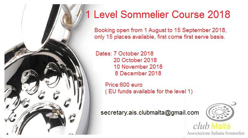 Level1 Course Sommelier AIS Club Malta