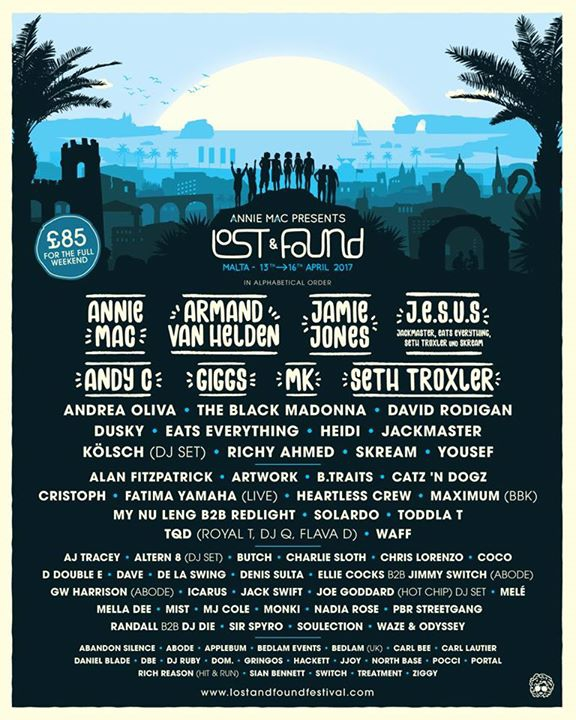 Lost & Found Festival Malta 2017
