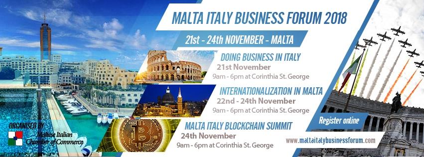 Malta Italy Business Forum - Internazionalizzazione a Malta