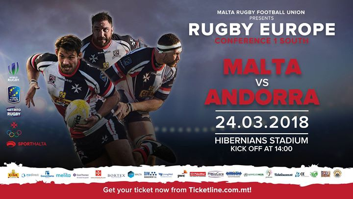 Malta vs. Andorra - Rugby Europe Conference 1 South