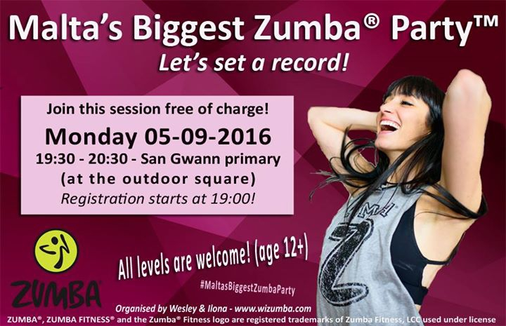 Malta's Biggest Zumba Party! Let's set a record!