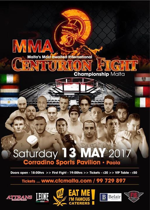 Malta's most awaited Show. MMA 13th May 17'