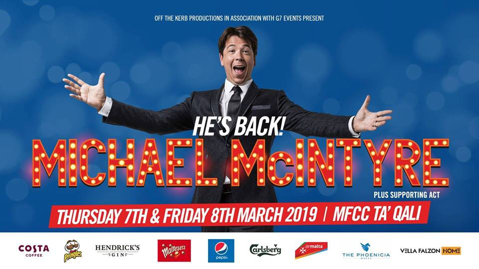MICHAEL MCINTYRE - THE BIG WORLD TOUR - LIVE IN MALTA - 2019