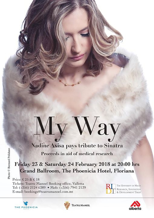 MY WAY - Nadine Axisa pays tribute to Sinatra