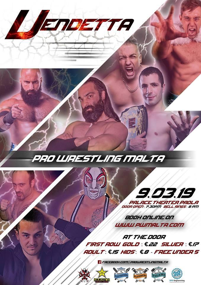 Pro Wrestling Malta presents : Vendetta