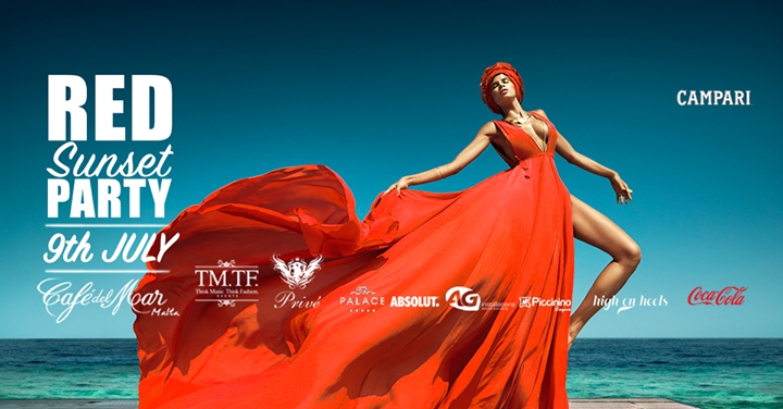 RED Sunset PARTY at Cafe Del Mar by Privé Events & TM.TF. Events