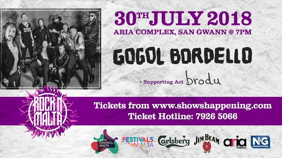 Rock'N Malta present: Gogol Bordello