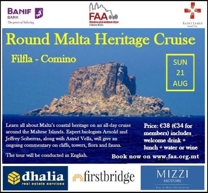 Round Malta Cruise - Filfla/Comino