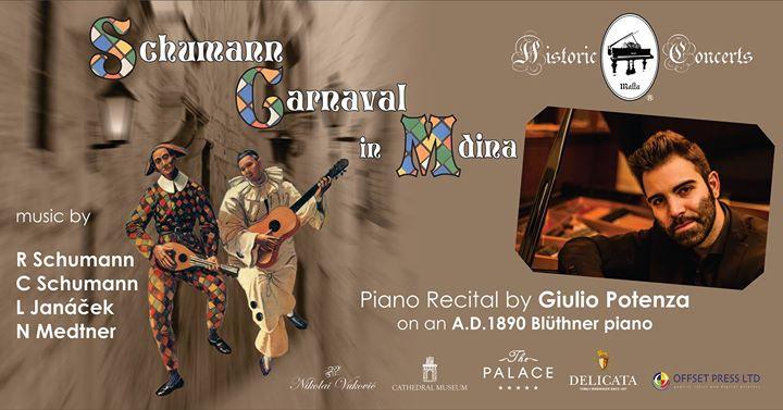 Schumann 'Carnaval' in Mdina - piano recital by Giulio Potenza