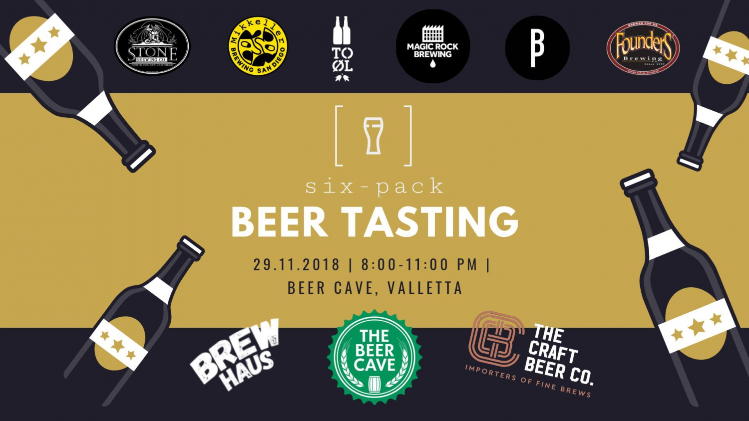 Six-Pack Beer Tasting - Launch Event