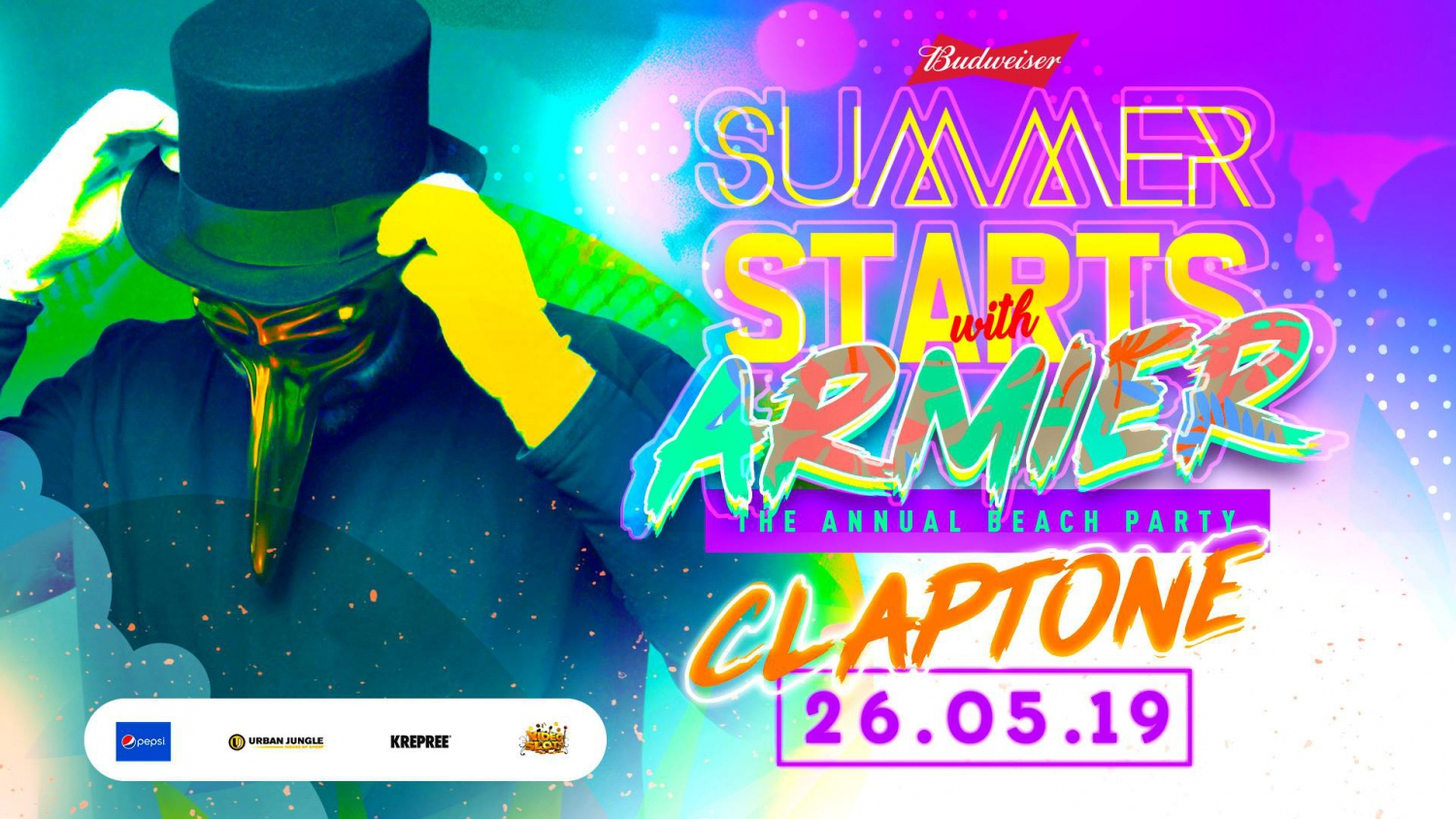 The Armier Beach Party feat Claptone - 26.05.19