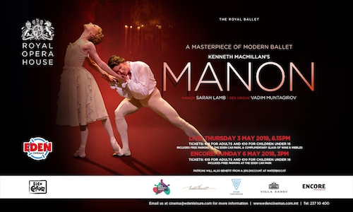 The Royal Ballet's Manon at Eden Cinemas
