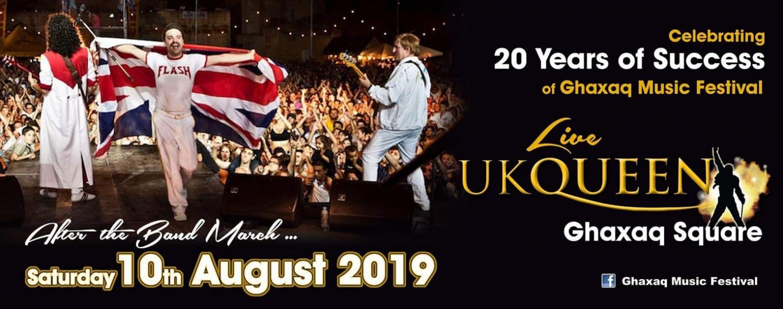 UK Queen at Għaxaq Music Festival 2019