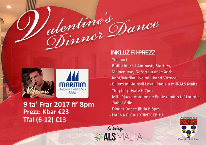 Valentine's Dinner Dance for ALS Malta