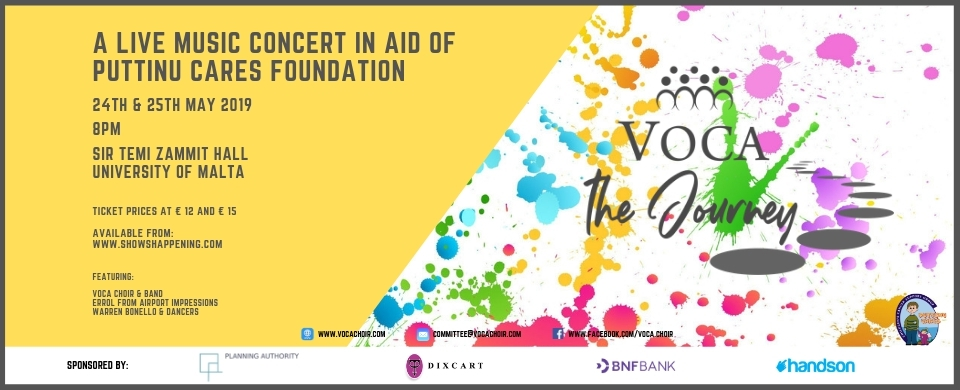 VOCA the Journey - A concert in aid of Puttinu Cares
