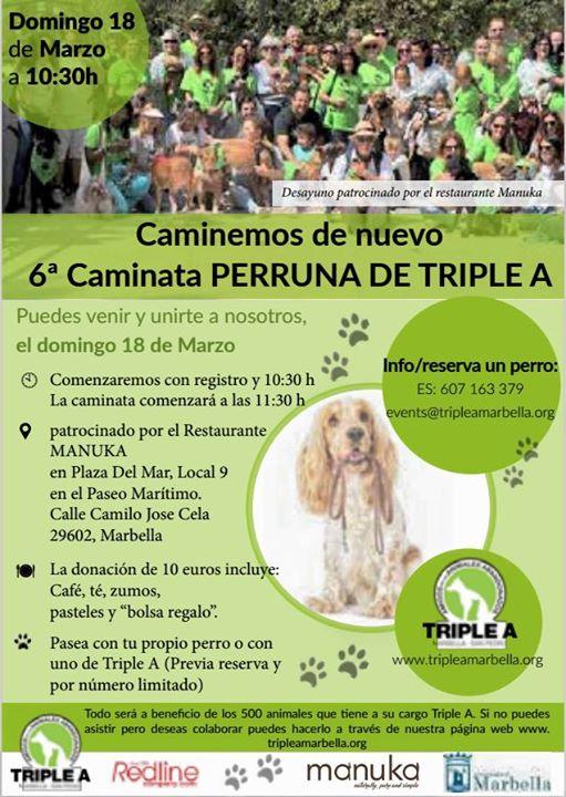 6ª Caminata perruna de Triple A/ 6th Triple A dogwalk
