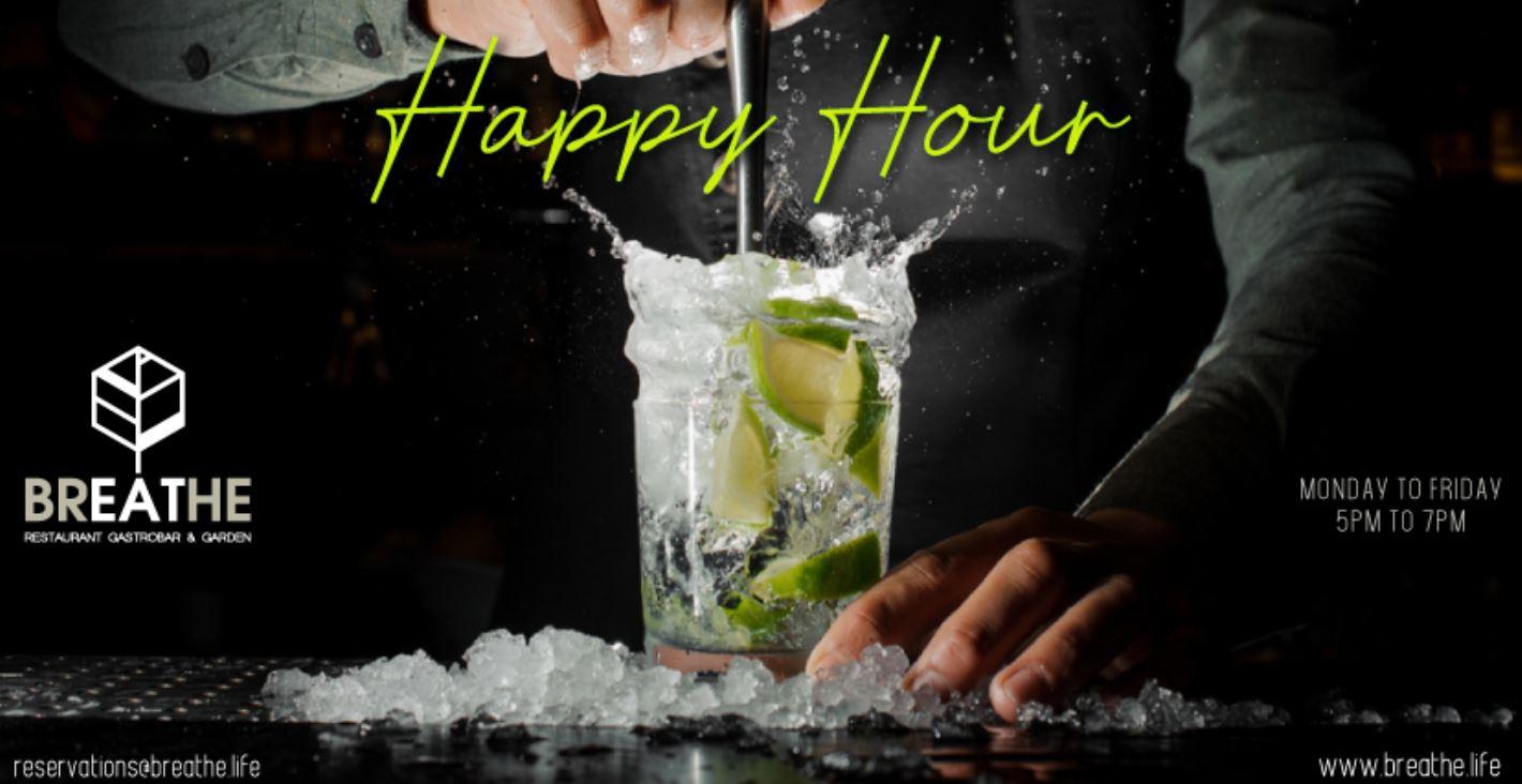 Breathe Happy Hour 5-7pm Weekdays