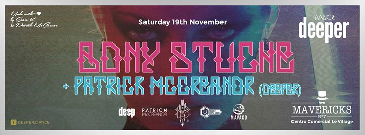 Dance Deeper presents Bony Stuche Saturday 19