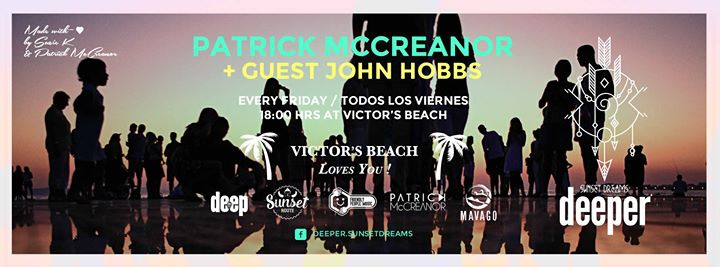 Deeper *Sunset Dreams* Friday 29 at Victors Beach