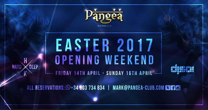 Easter 2017 Opening Weekend at Pangea Marbella!