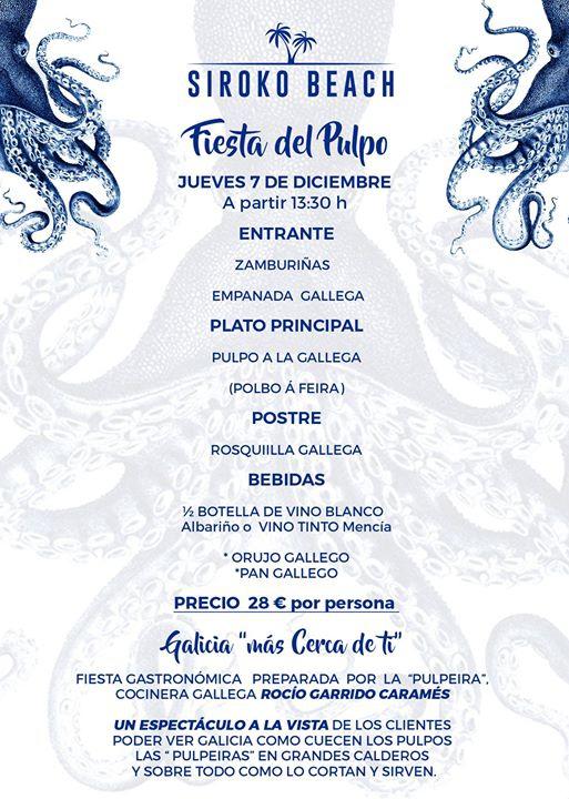 Fiesta del Pulpo | Plazas limitadas