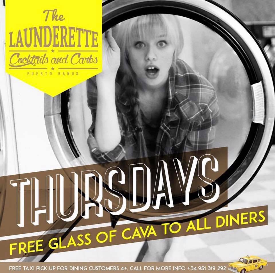 Free Cava every Thursday at The Launderette