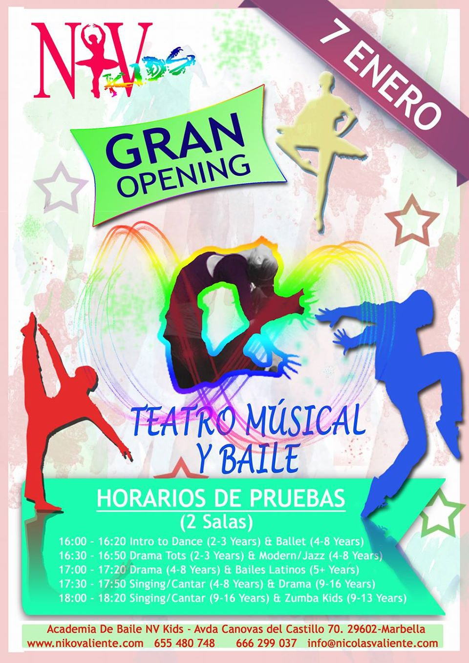 GRAND OPENING PARTY NV KIDS, musical theatre & dance school, Marbella