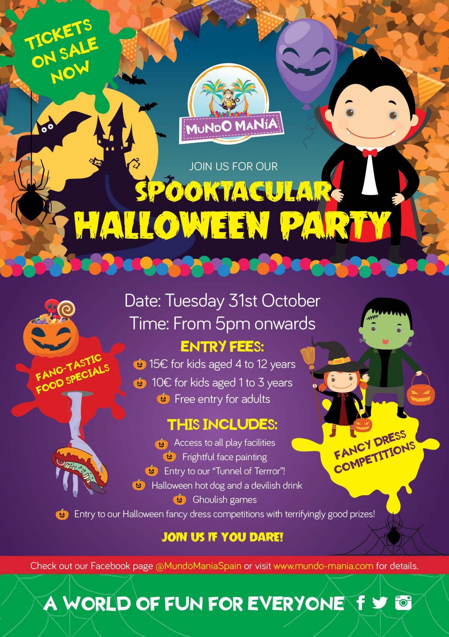 Halloween Party at Mundo Mania