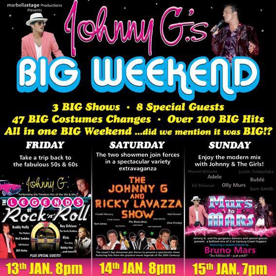 Johnny G.´s BIG Weekend