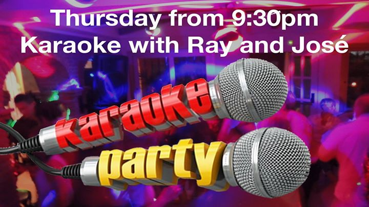 Karaoke with Ray and José at Music Café Marbella
