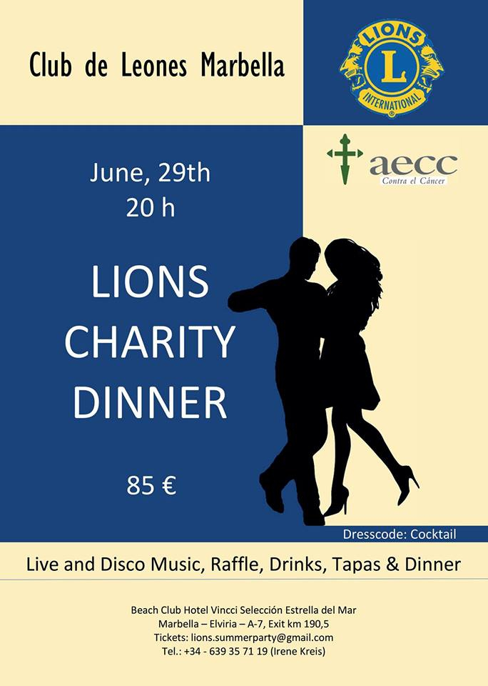Lions Charity Dinner 2018
