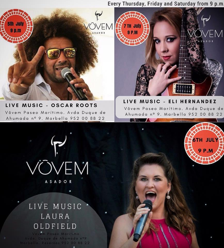 Live Weekly Music at Vovem