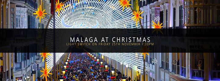 Malaga Christmas Lights Switch On