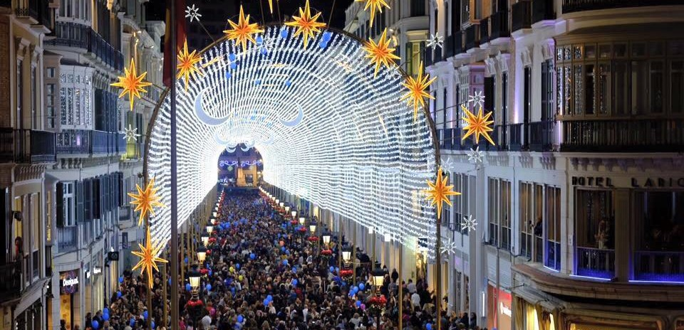 Malaga Switches their Christmas Lights
