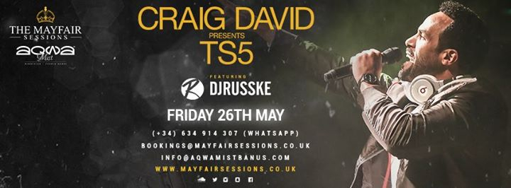 Mayfair Sessions presents: Craig David / 26.05.17