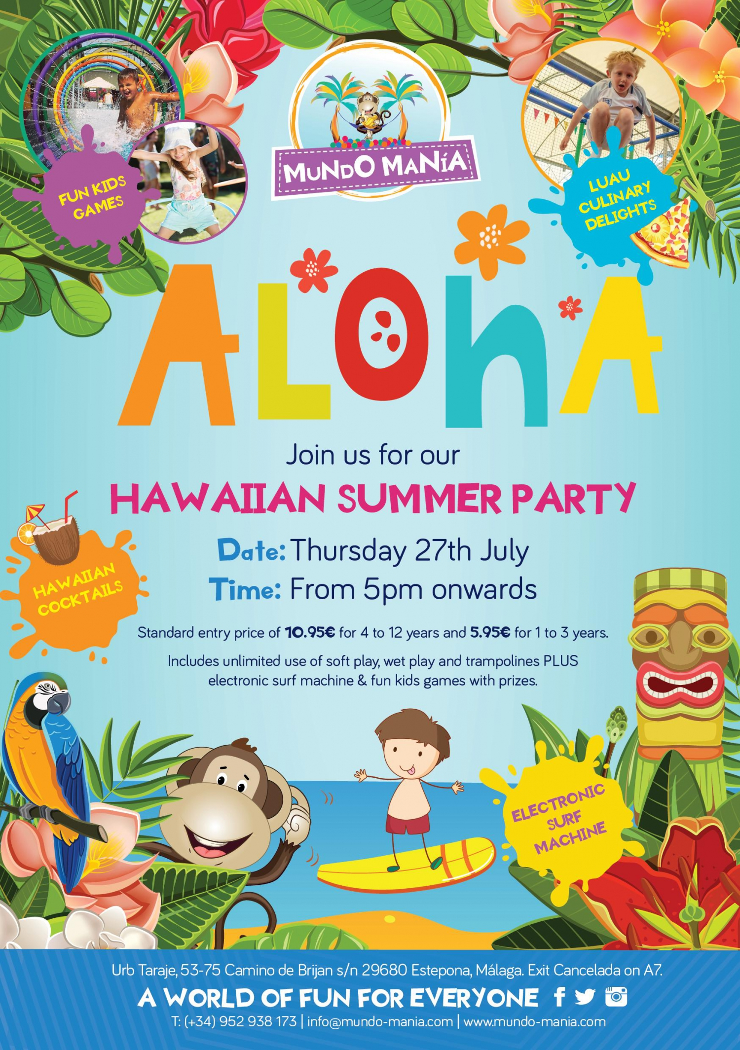 Mundo Mania Hawaiian Summer Party