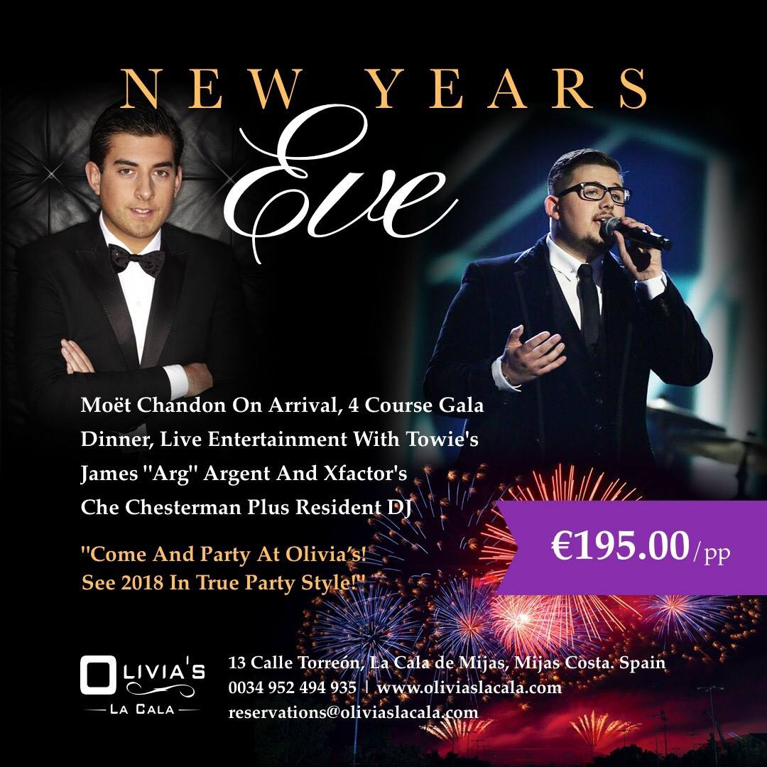New Years Eve at Olivias La Cala | My Guide Marbella