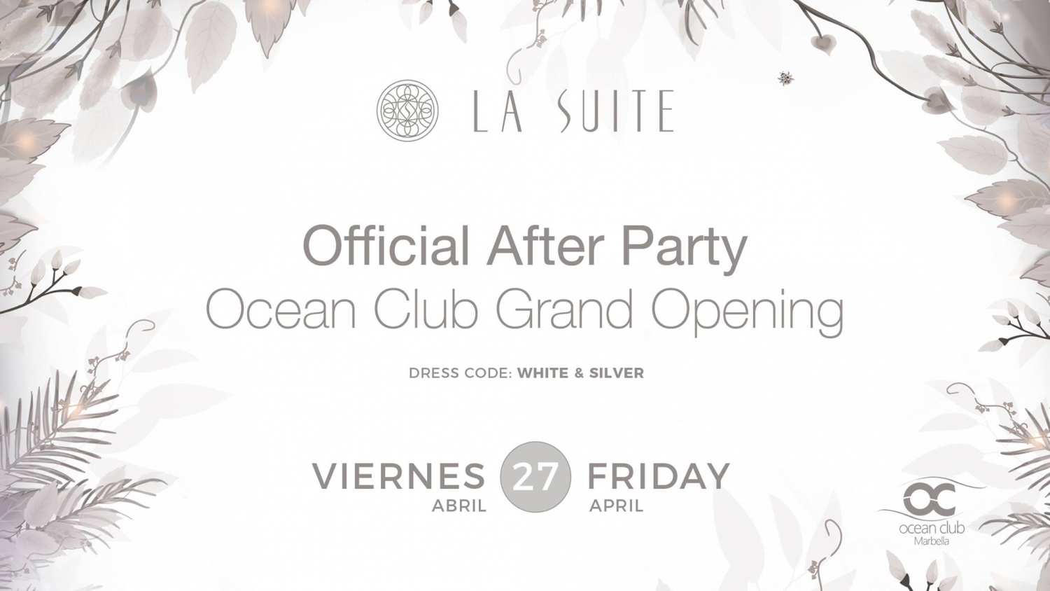Official White and Silver After Party at La Suite
