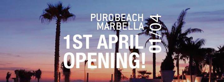 Purobeach Marbella Opening 1st April