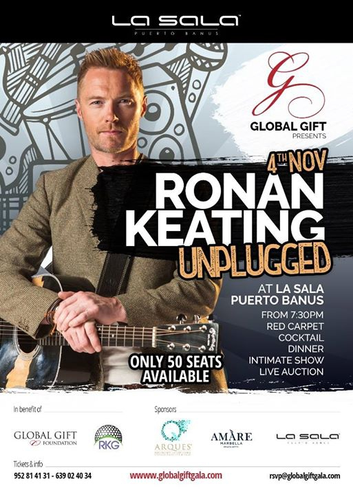 Ronan Keating Unplugged Charity Concert