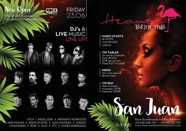 San Juan ROXX FM & Heaven Beach Club // 23 Jun