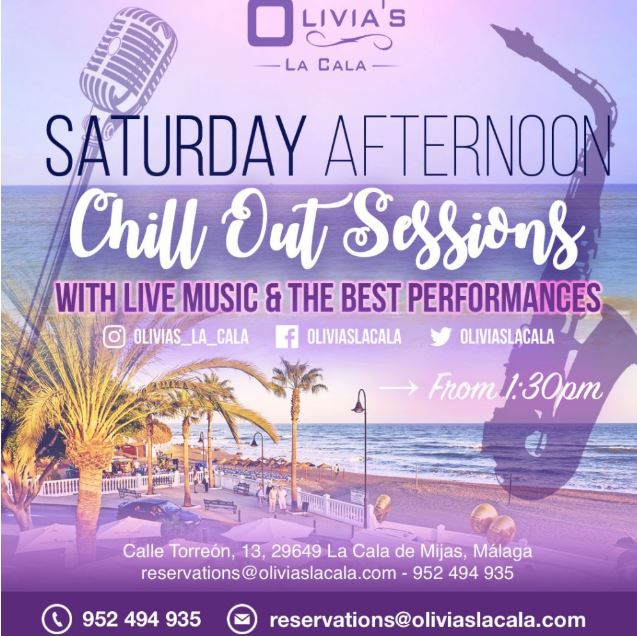 Saturday Afternoon Chill Out Sessions @ Olivia's La Cala