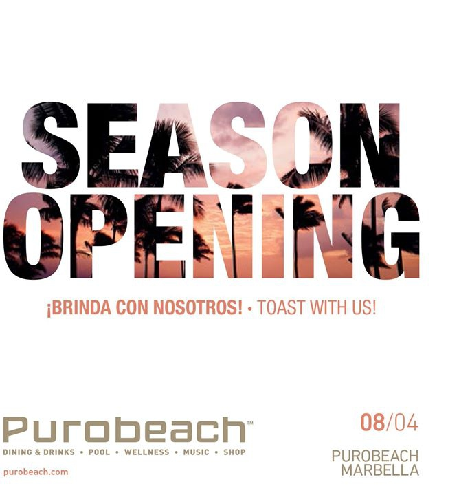 Season Opening - Purobeach Marbella