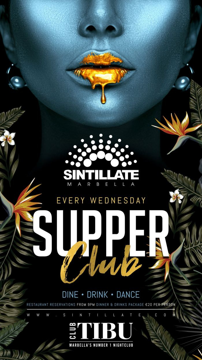 Sintillate Supper Club - EVERY WEDNESDAY