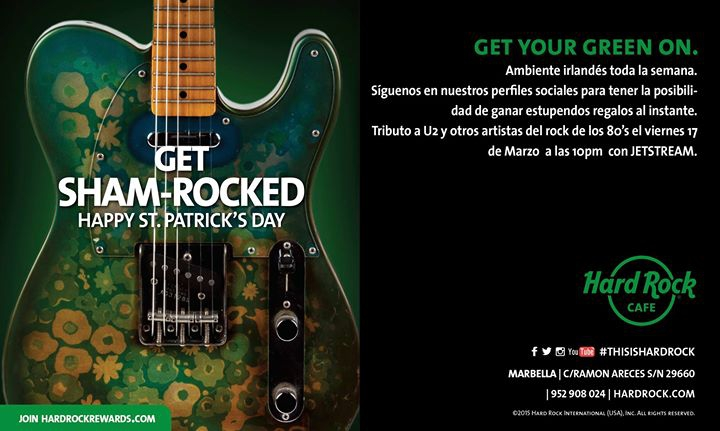 St Patricks en Hard Rock Cafe Marbella