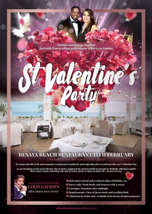 St Valentine's Dinner and Dance with Michael and Simone Harding