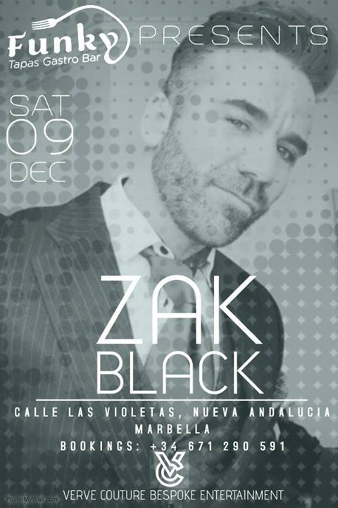 Zak Black Live debuts at Funky Tapas.