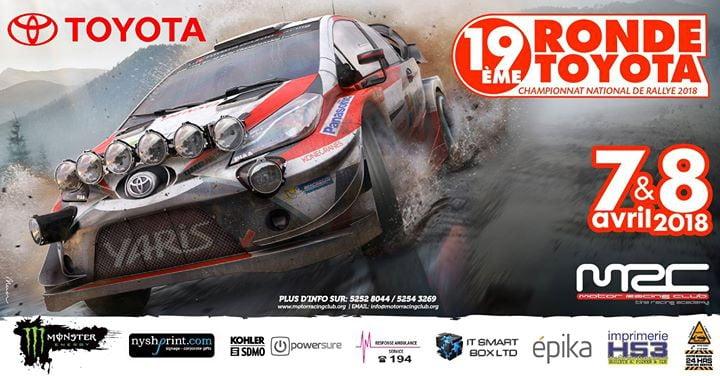 19eme Ronde Toyota 2018 - National Rally Championship 2018